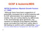 gcsf leukemia mds