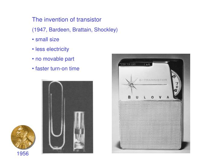 The invention of transistor