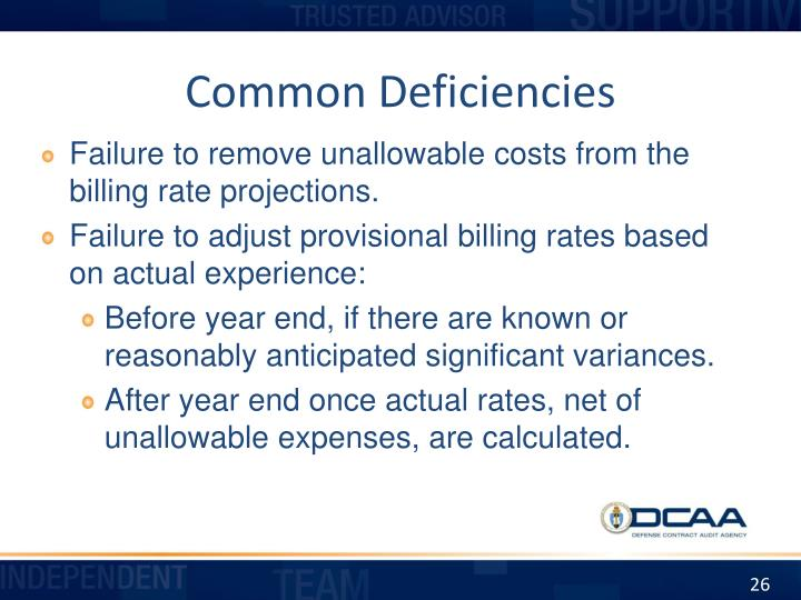 Common Deficiencies