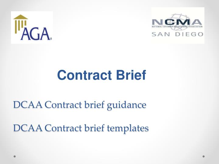 Contract Brief
