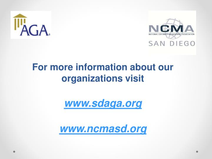 For more information about our organizations visit