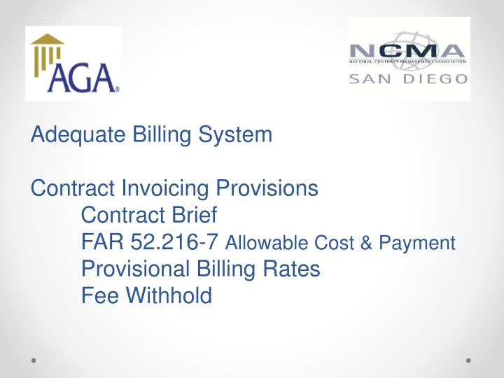Adequate Billing System
