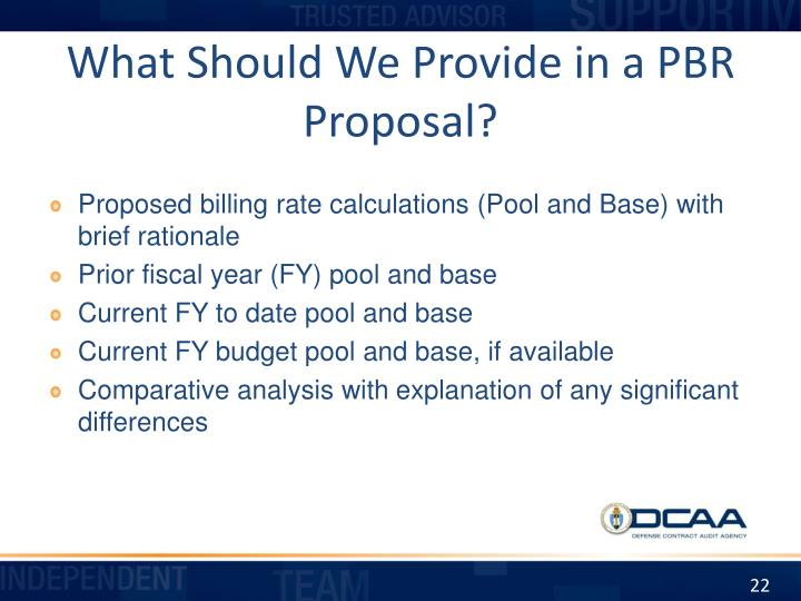 What Should We Provide in a PBR Proposal?