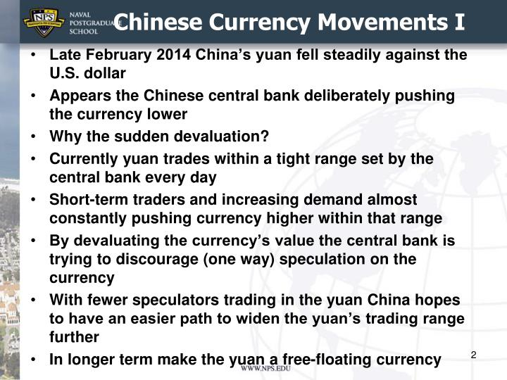 Chinese currency movements i