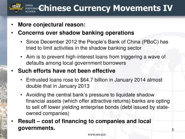 Chinese Currency Movements IV