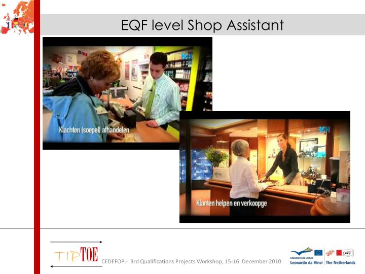 EQF level Shop Assistant