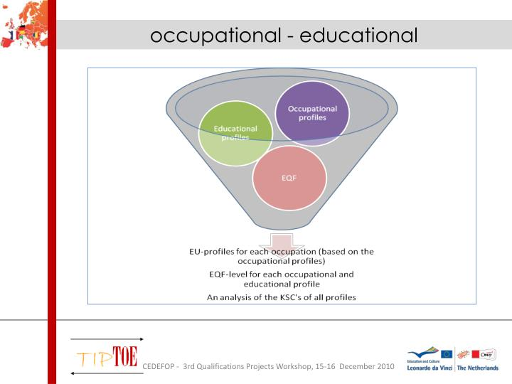 occupational - educational