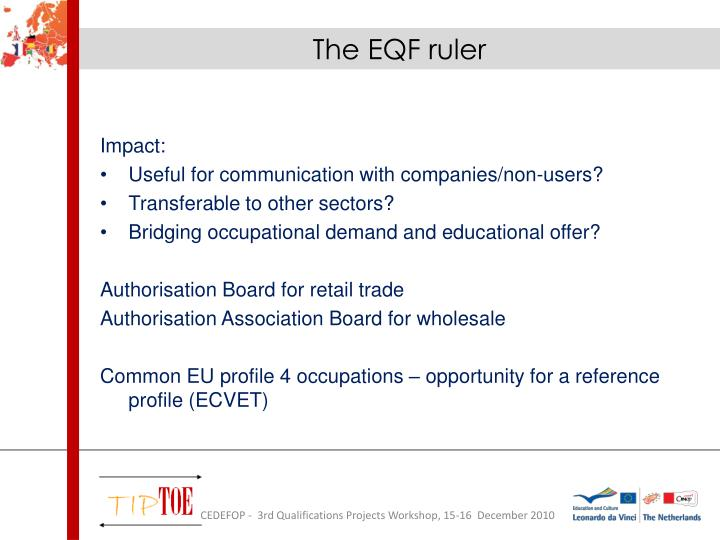 The EQF ruler