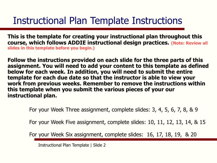 PPT - AET/515 Instructional Plan Template (Chanel Bush) PowerPoint ...