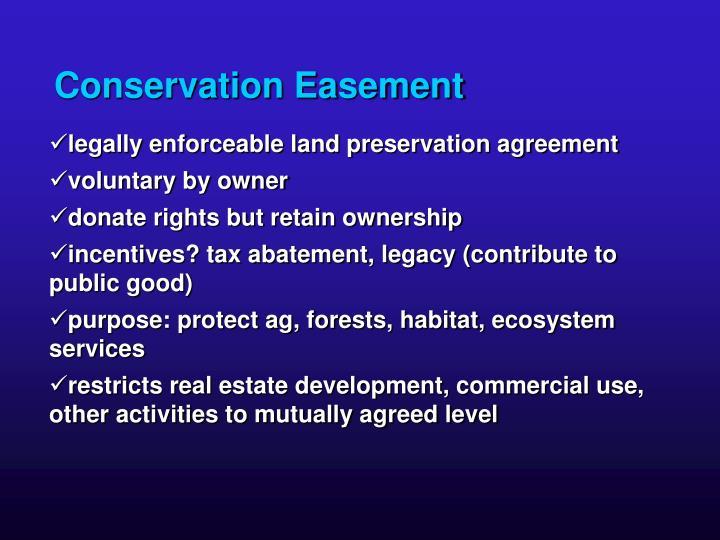 Conservation Easement