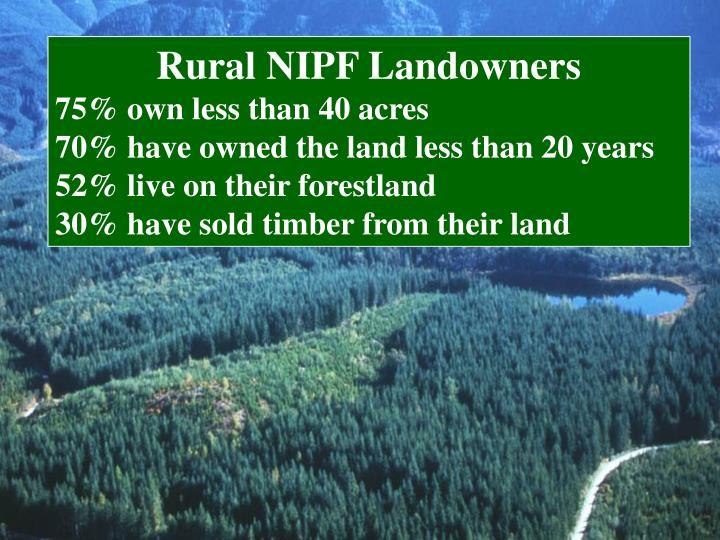 Rural NIPF Landowners