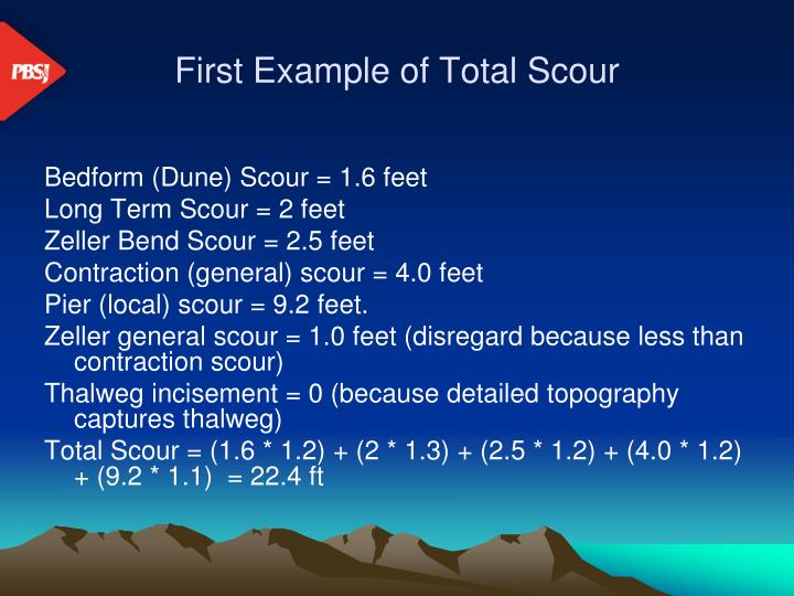 First Example of Total Scour