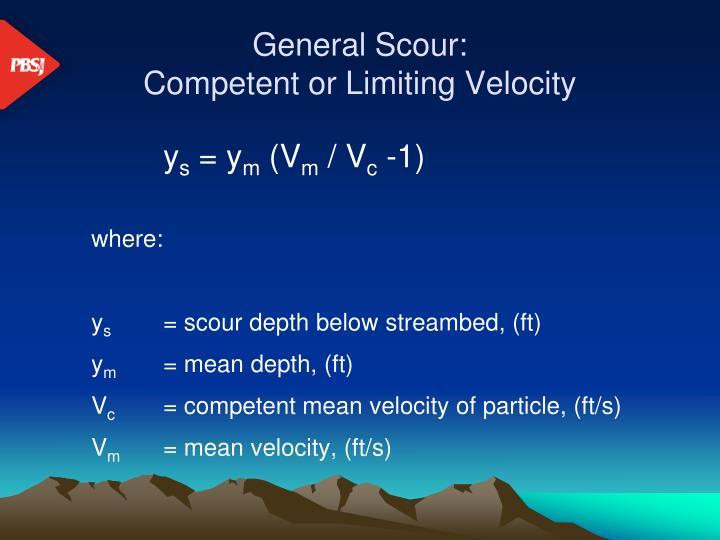 General Scour: