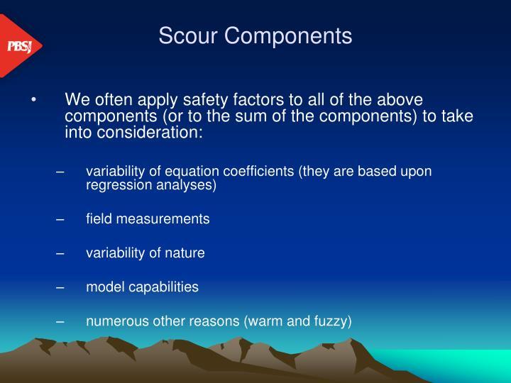 Scour components
