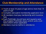 club membership and attendance