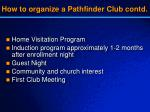 how to organize a pathfinder club contd2