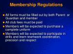 membership regulations
