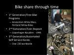 bike share through time