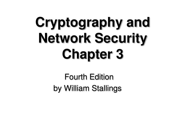 cryptography and network security chapter 3 n.