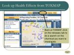 look up health effects from toxmap