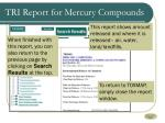 tri report for mercury compounds