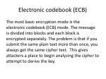 electronic codebook ecb