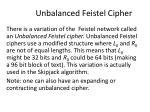unbalanced feistel cipher