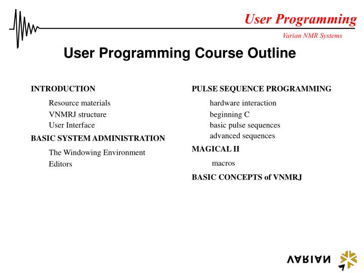 user programming course outline n.