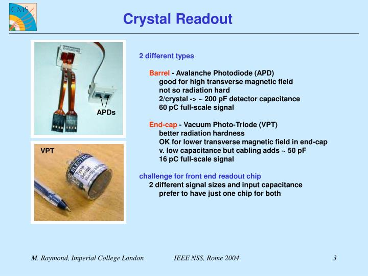 Crystal Readout