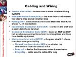 cabling and wiring