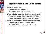digital ground and loop starts