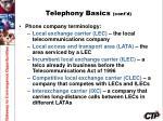 telephony basics cont d