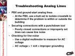 troubleshooting analog lines