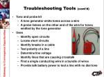 troubleshooting tools cont d