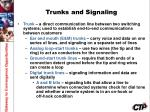 trunks and signaling