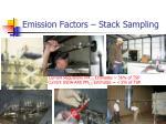 emission factors stack sampling