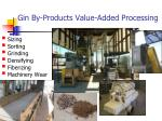 gin by products value added processing