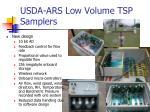 usda ars low volume tsp samplers