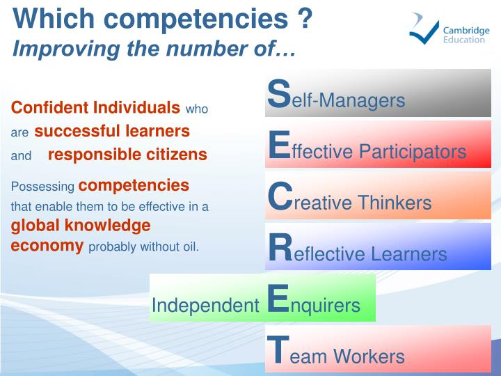 Which competencies ?