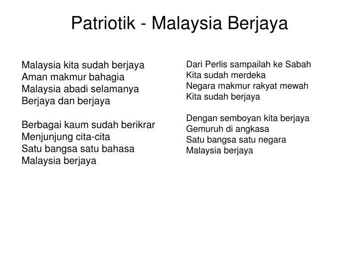 Patriotik - Malaysia Berjaya