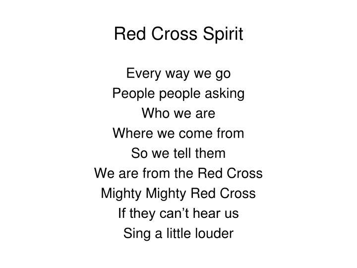 Red Cross Spirit