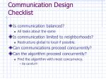 communication design checklist