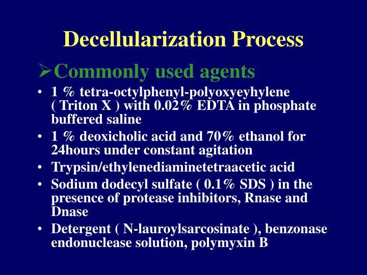 Decellularization Process