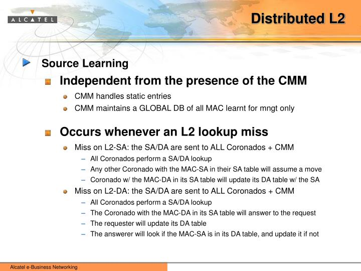 Distributed L2