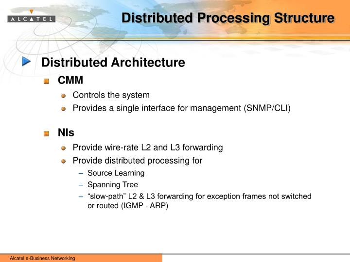 Distributed Processing Structure