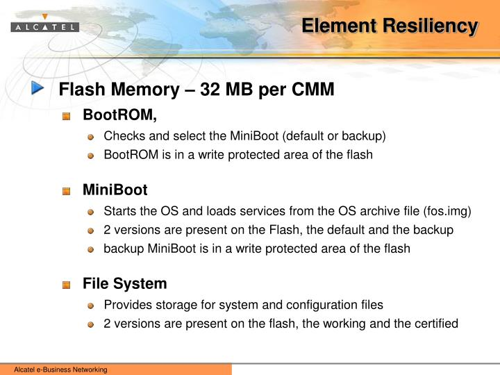 Element Resiliency