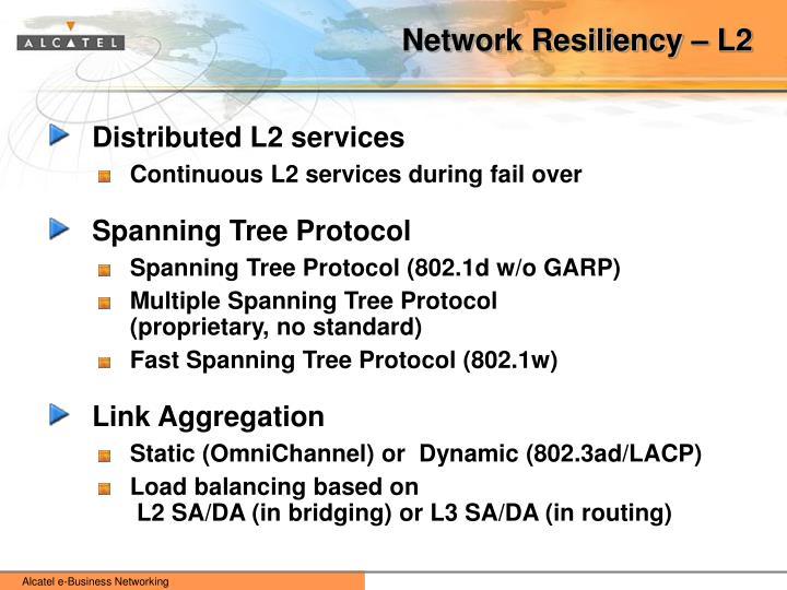 Network Resiliency – L2