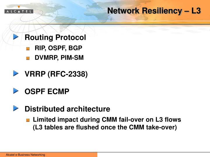 Network Resiliency – L3