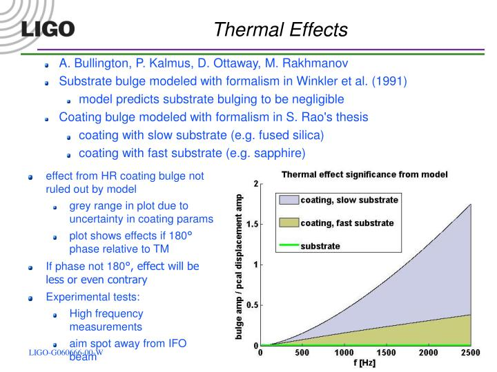 Thermal Effects