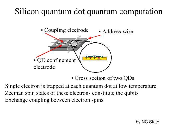 Silicon quantum dot quantum computation